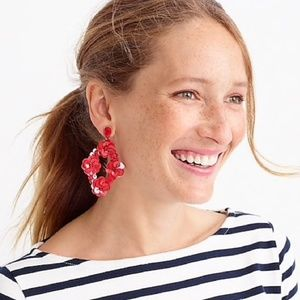 NWT J. Crew Sequin Statement Earrings